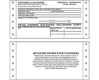 Shellfish & Seafood Harvest Tags (SH-1488)