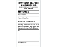 Shellfish & Seafood Harvest Tags (SH-1489)