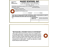 Shellfish & Seafood Harvest Tags (SH-1490)