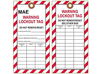 Warning Tags Osha Lock Out