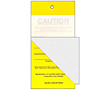 Self Laminating Caution Tags