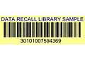 Preprinted Barcode Library Book Labels (BCL-1392)