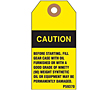 Custom Printed Yellow Caution Tags (CT-1420)