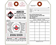 Fire Extinguisher Monthly Safety Inspection Tags (FT-1482)