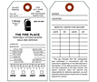 Fire Extinguisher Monthly Safety Inspection Tags (FT-1483)