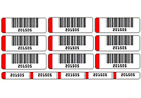 Preprinted Barcode Labels Multi Up on Sheet (BCL-1393)