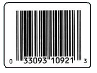 Preprinted Barcode UPC Labels (BCL-1397)