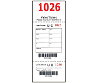 Barcode Valet Hang Tags (BCT-1402)