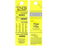 Barcode Valet Mirror Hang Tags (BCT-1408)
