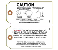 Custom Printed Caution Safety Tags (CT-1413)