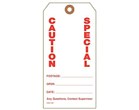 Custom Printed Caution Tags (CT-1419)