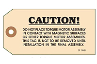 Custom Printed Caution Tags (CT-1422)