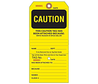 Custom Yellow Caution Tags (CT-1423)