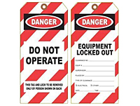 Item Dt 1428 Equipment Lock Out Danger Tag On Universal Tag