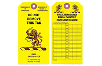 Fire Extinguisher Monthly Safety Inspection Tags (FT-1485)