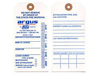 Fire Extinguisher Annual Inspection Maintenance Tags (FT-1486)