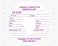 Custom Printed Labels on Rolls - Wire Reel Marking (CL-1521)