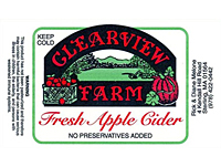 Custom Printed Labels on Rolls - Apple Cider Bottle Label (CL-1526)