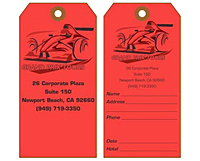 Custom Printed Paper Luggage Tag (LG-1542)