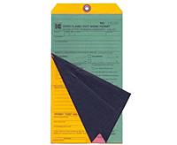 Multi-Part Hot Work Permit Tags (MLT-1558)