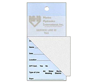 Self Laminating Service ID Tags