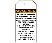 Warning High Pressure Gas Tags (WT-1440)