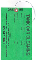 Weatherproof Tyvek Tank Car Cleaning Tags (WPT-1783)