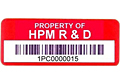 Preprinted Barcode Asset Labels (BCL-1384)