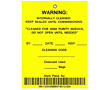 Barcode Warning Hang Tags (BCT-1403)