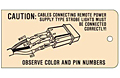 Custom Printed Caution Tags (CT-1411)