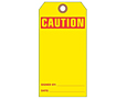 Custom Yellow Caution Tags (CT-1418)