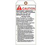 Custom Printed Caution Tags (CT-1421)