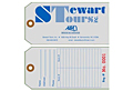 Custom Printed Numbered Paper Luggage Tag (LG-1544)