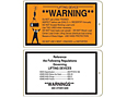 Warning Hoist Lifting Tags (WT-1441)