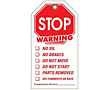 Warning Hang Tags Stop (WT-1443)